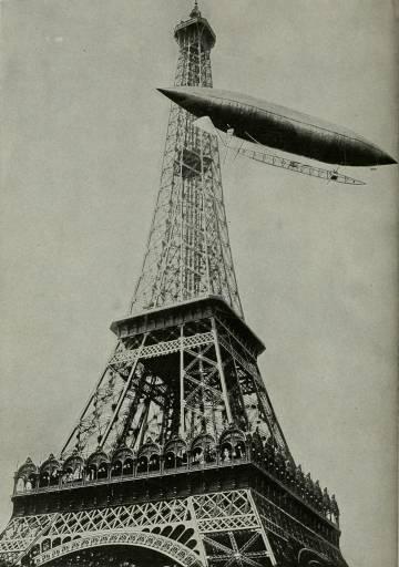 Alberto Santos Dumont, deu a volta à torre Eiffel com o seu balão Santos Dumont nº 6