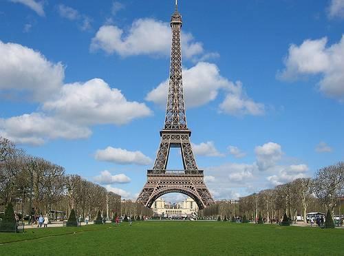Colocação da primeira pedra da Torre Eiffel, Paris