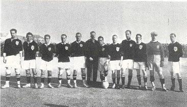 Primeiro jogo oficial da Selecção Portuguesa de Futebol