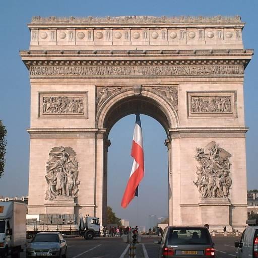 O Arco do Triunfo em Paris foi inaugurado