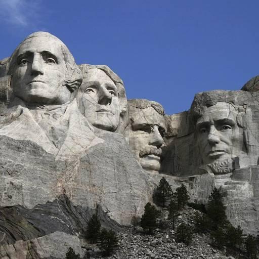 Começou a ser esculpido a rocha do monte Rushmore