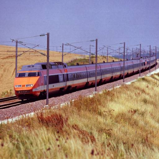 A viagem inaugural do TGV, o comboio de alta velocidade francês