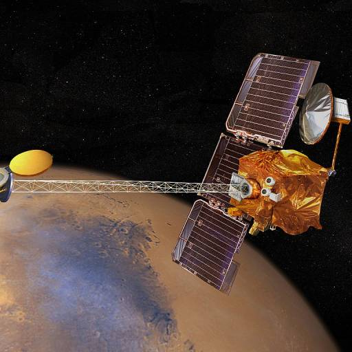 A sonda Mars Odyssey encontrou sinais de água no planeta Marte