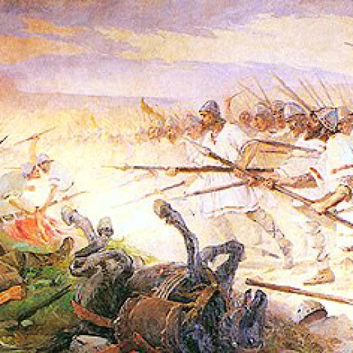 Ocorreu a Batalha de S. Mamede, entre D. Afonso Henriques e sua mãe D. Teresa