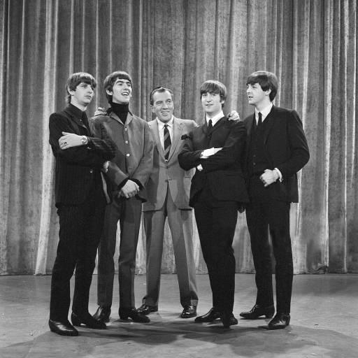 Os Beatles actuaram no programa The Ed Sullivan Show