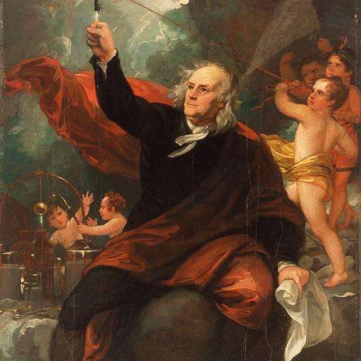 Benjamin Franklin realizou experiência com um papagaio