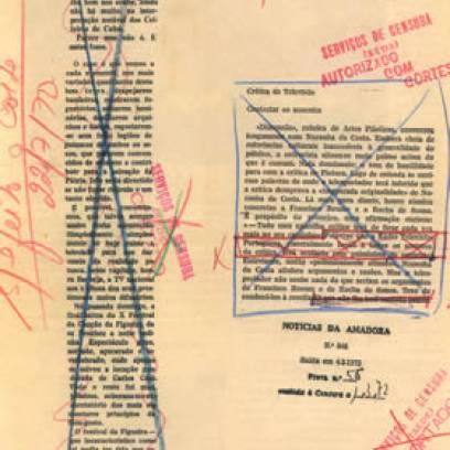 O Estado Novo português instaurou o exame prévio aos jornais