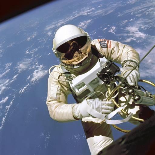 O astronauta Edward White realizou um passeio espacial de 20 minutos