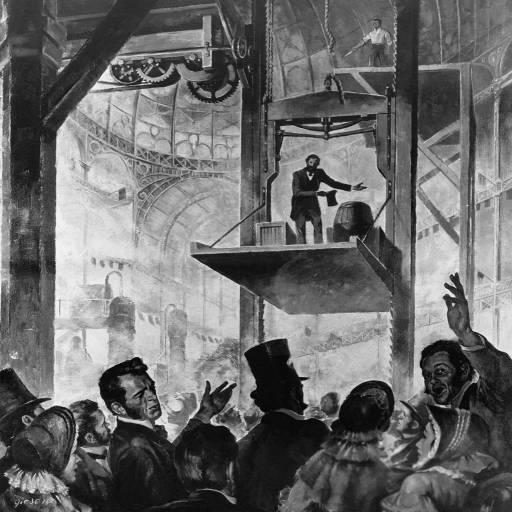 O primeiro elevador de Elisha Graves Otis foi instalado em Nova Iorque