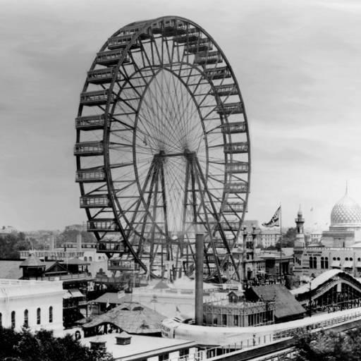 Foi criada a primeira roda gigante, em Chicago