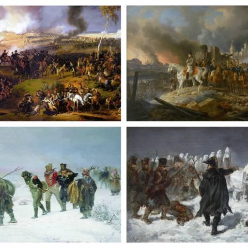 O exército de Napoleão invadiu Moscovo