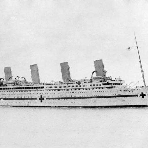 O navio White Star RMS Atlantic afundou-se