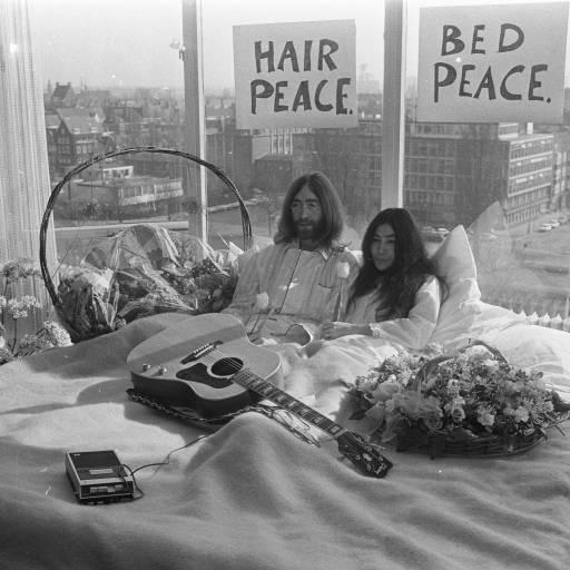 John Lennon e Yoko Ono casaram-se