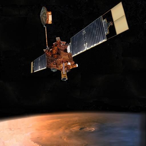 A sonda Mars Global Surveyor foi lançada em direcção a Marte
