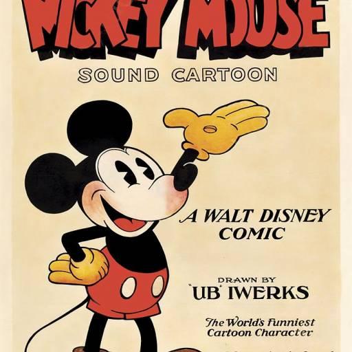 Surgiu pela primeira vez o Mickey Mouse em banda-desenhada