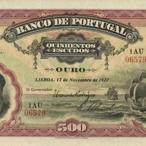As notas de 500 escudos começaram a ser retiradas de circulação