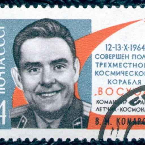 A nave espacial Soyuz explodiu no espaço e o seu piloto, Vladimir Komarov, morreu no acidente