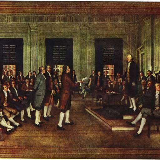Foi assinada a Constituição norte-americana