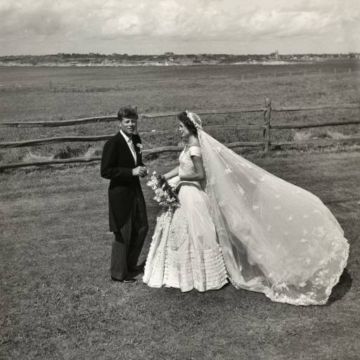 John F Kennedy e Jacqueline Lee Bouvier casaram-se
