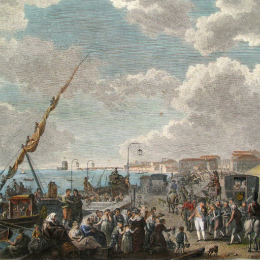 A família real portuguesa e a sua corte desembarcam no Brasil