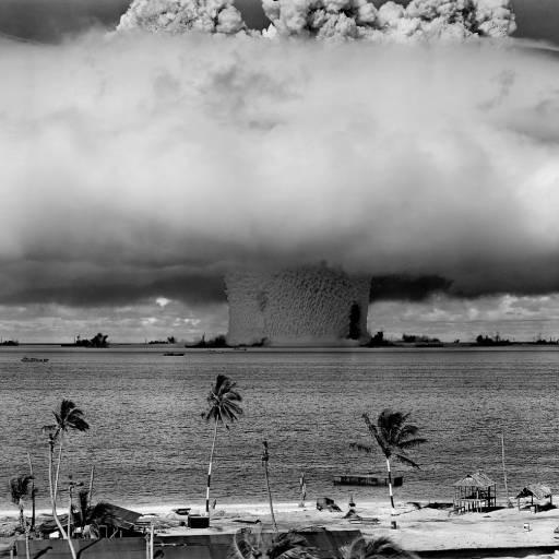 A França realizou testes nucleares no Pacífico Sul