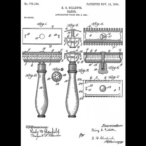 King Gillette inventou a lâmina de barbear descartável