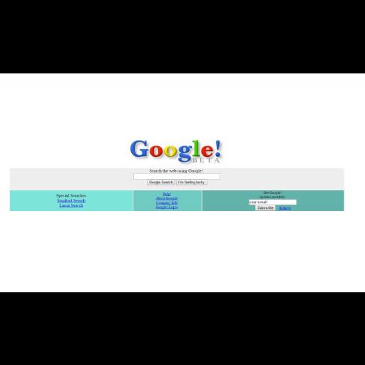 Foi criado o site de pesquisa Google