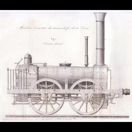 Stephenson construiu a primeira locomotiva