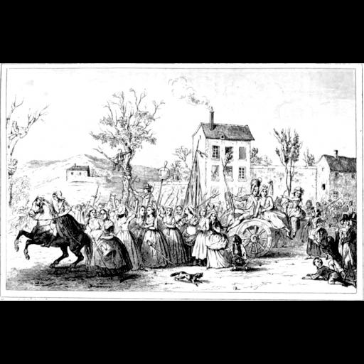 O povo invadiu o Palácio de Versalhes