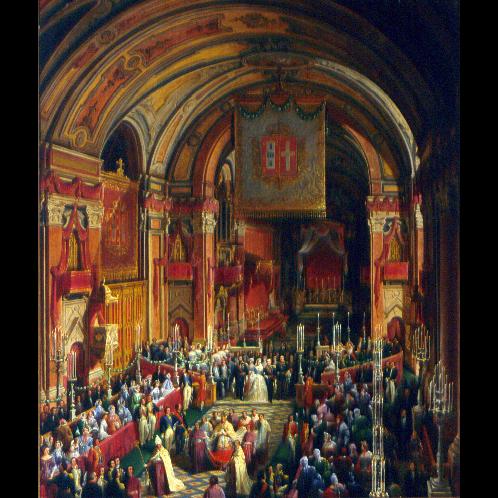 O rei D. Luís I casou-se com Dona Maria Pia de Saboia