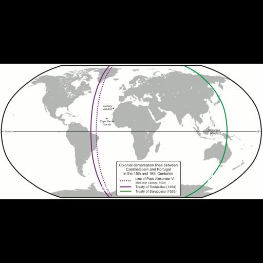 O Tratado de Tordesilhas foi ratificado por Portugal
