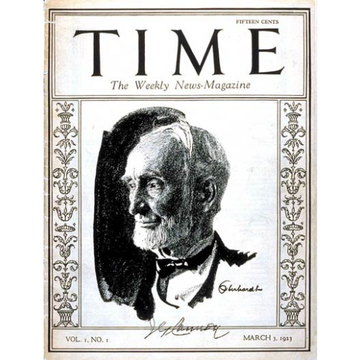 A revista Time foi publicada pela primeira vez